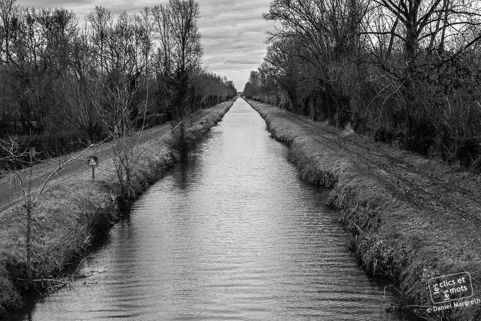 Canal vers Courdault. Vendée.