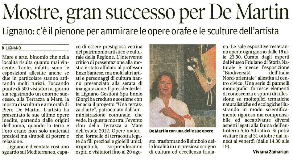 Messaggero Veneto del 10 agosto 2012