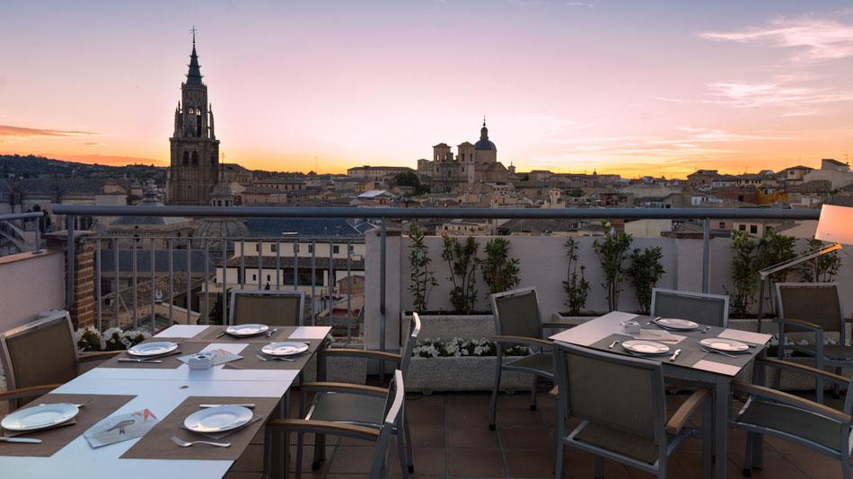 Panorámica desde la terraza del Hotel Carlos V