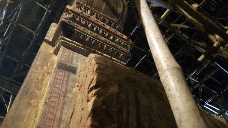 """Die zweite Pagode die wir erst in Burma besichtigt haben... Ein alter Tempel der """"restauriert"""" wird mit original Wandmalereien. Am späten Nachmittag öffnete uns nochmal der Schlüsselmeister und plauderte aus dem Nähkästchen..."""
