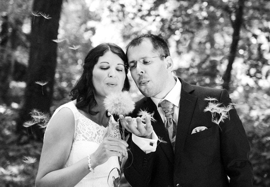 Bild Foto Hochzeit Hochzeitsfoto heiraten Weinviertel romantisch Hochzeitsfotografin Pusteblume Wünsche Romantik romantisch momentissimo Barbara Wagner