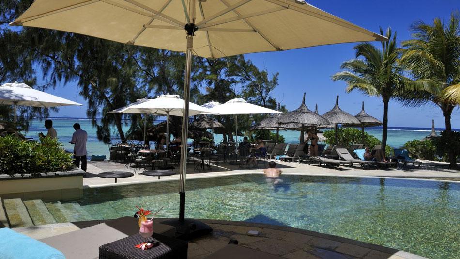 Mauritius Badeurlaub mit Halbpension oder Mauritius all inclusive Urlaub (c) La Palmeraie by Mauritius Boutique Hotel mit Swimmingpool Strand, Schnorcheln u Tauchen