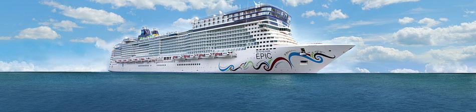 Kreuzfahrt mit Norwegian Epic im Mittelmeer 2016 oder Karibik ab Florida 2017