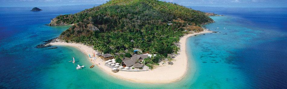 Urlaub in der Südsee Rundreisen und Baden Castaway Island mit Flug sowie Kreuzfahrten ab Fiji bis Tahiti mit Flug