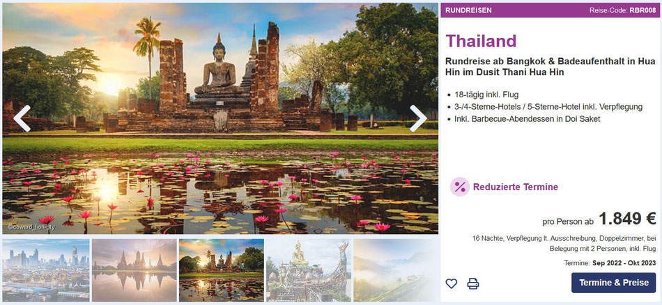 Thailand Rundreisen Berge & Meer 2021 mit Spezialisten Beratung vom Thailandkenner Olaf Diroll im Vertragsreisebüro Reiselotsen cruise & tours hier online, telefonisch oder per Anfrageformular & email günstig buchen