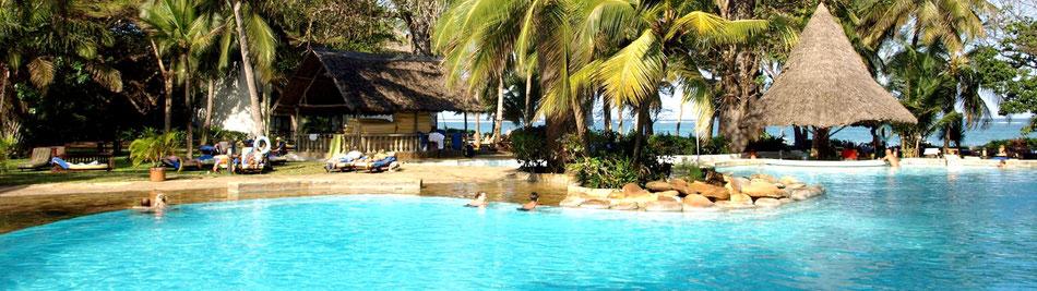 Kenia Badeurlaub im Strandhotel Papillon Lagoon Reef an der Diani Beach (Ukunda) alles inklusive Verpflegung und incl. Kurzsafari & Flug (c) Papillon Lagoon Reef ...