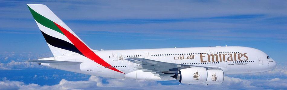 Emirates Airbus A380(c)emirates group Dubai - ab 29.Oktober hier günstig Urlaub Dubai buchen,Pauschalreisen Dubai mit Emirates Flug ab Hamburg Dubai im Airbus A380