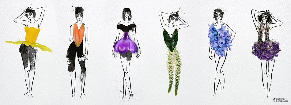 maygreen, fashion kollektion, sommer, fruehling, blumen, kleider, jumpsuit, oberteile, roecke, hosen