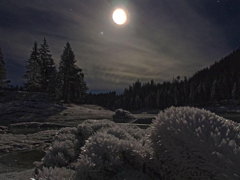 Caumasee im Mondschein (Photo A.Garbely)