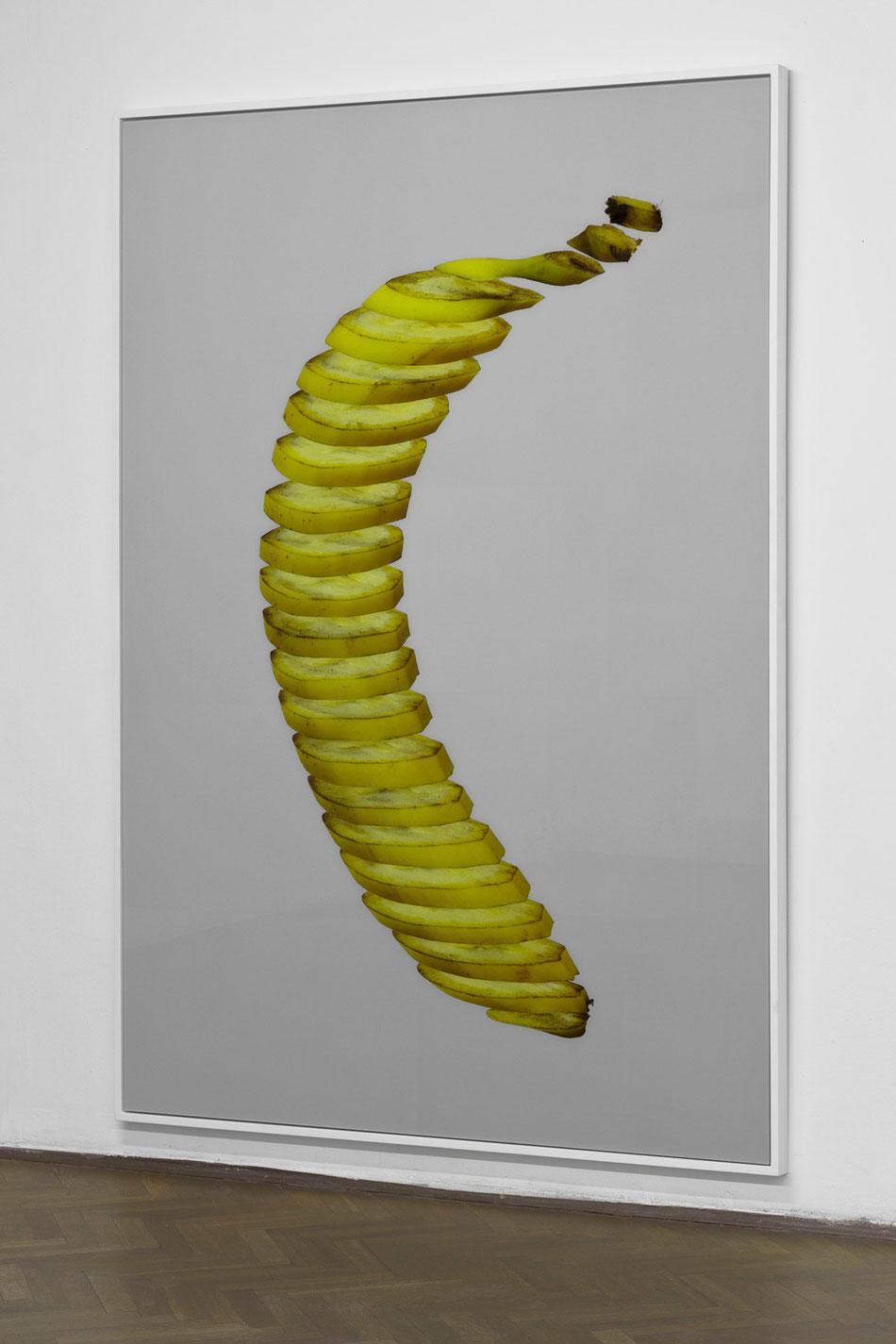 Half a banana | Pół banana, 2014, Diasec, frame, 150x200 cm