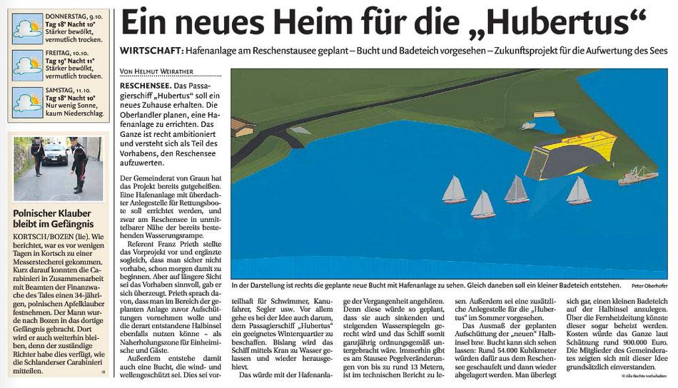 Neues aus der Dolomitenausgabe vom 9. Oktober 2014 !!!