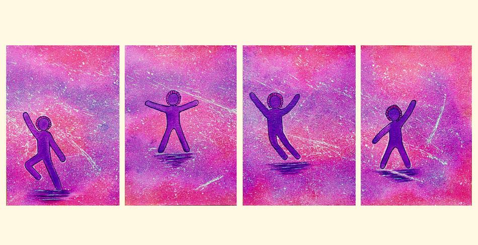 the Joys of Life, Acryl auf Künstlerpapier, 4xA3