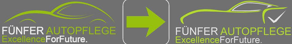 Das neue Logo von Fünfer Autopflege