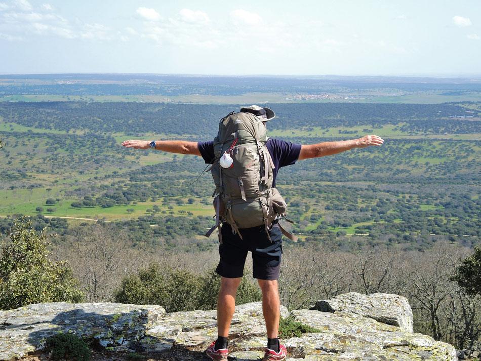 Pico de Dueno. 35 km vor Salamanca und noch 500 km nach Sevilla