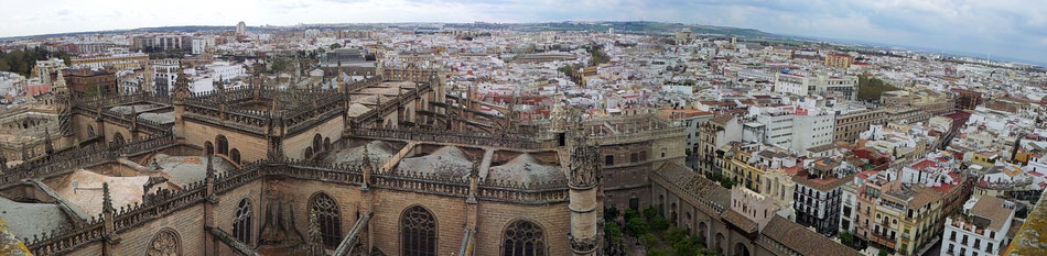 Panorama Blick aus der Giralda