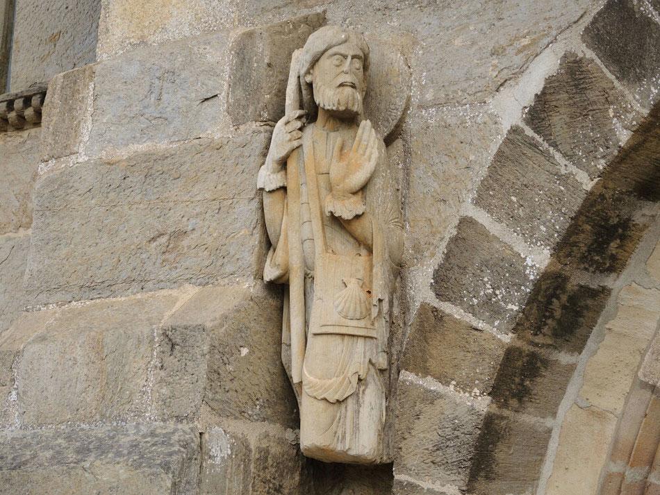 Die älterste bekannte Statue von heiligen Jakobus als Pilger, aus dem Jahre 1010