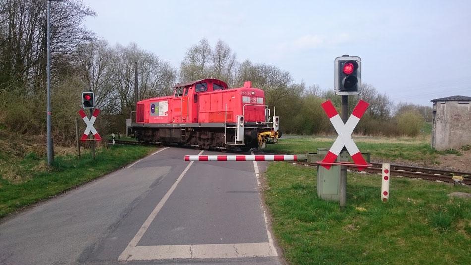 Kleine Schranke, kleine Bahn.