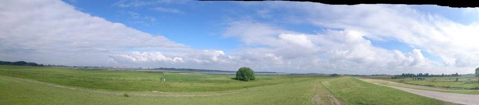 Viel Landschaft an der Pinnau.