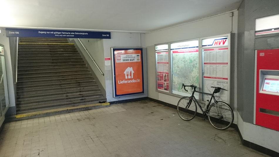 Immer wieder schön gruselig: S-Bahnhöfe in Hamburg