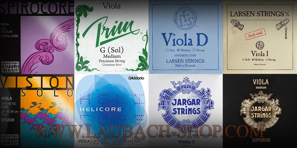 струны для альта и альтовые от Pirastro, Thomastik и Larsen,