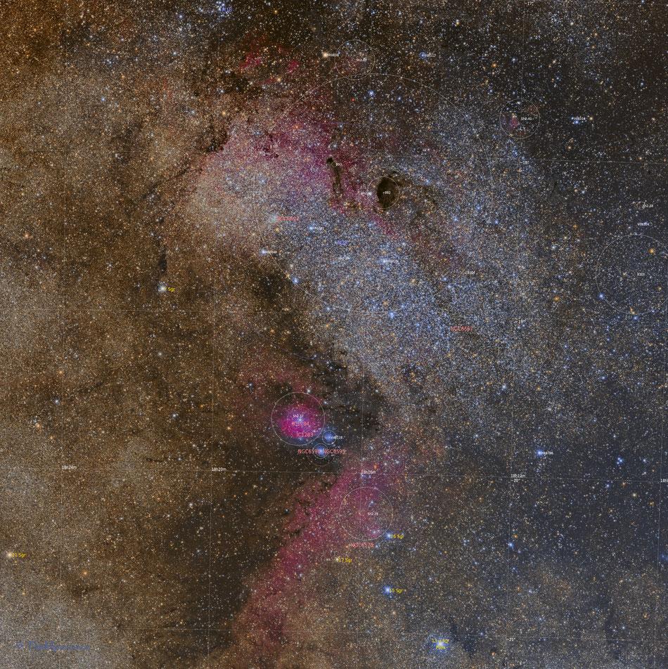 Sagittarius Star Cloud Annotated
