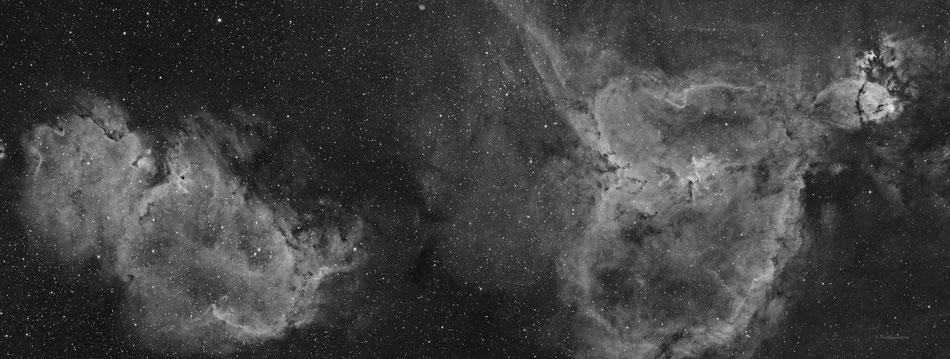 Nebulosas El Alma, El Corazón y El Pez