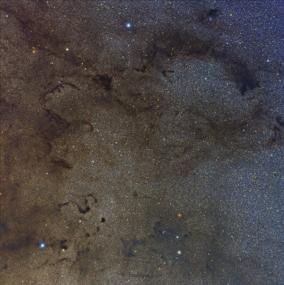 Nebulosas oscuras y La Serpiente en Ofiuco