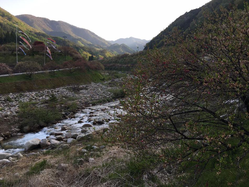 月川温泉付近