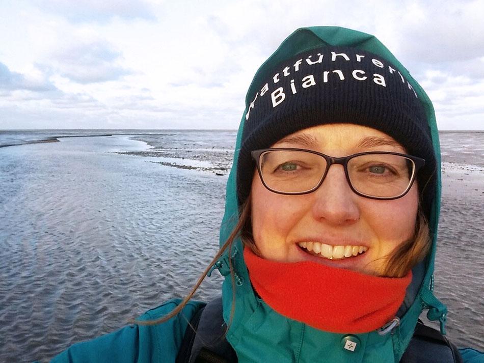 Wattführerin Bianca Brüggemann freut sich mit Ihnen den Nationalpark Wattenmeer zu entdecken. © Bianca Brüggemann