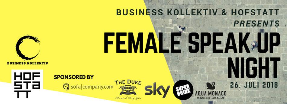 Business Kollektiv & Hofstatt presents Female Speak Up Night