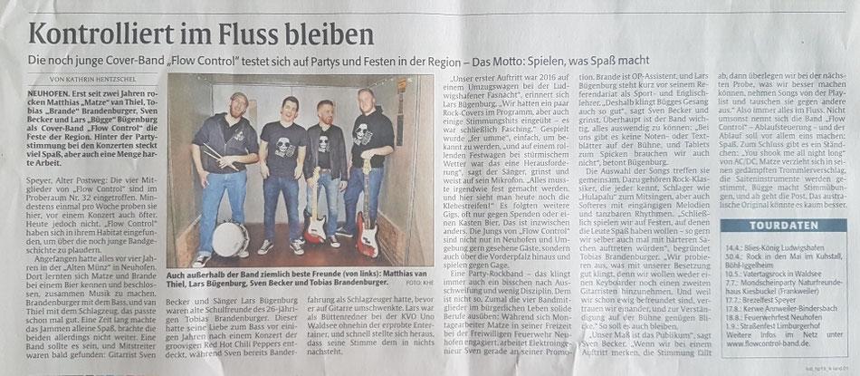 Rheinpfalz 13.04.2018