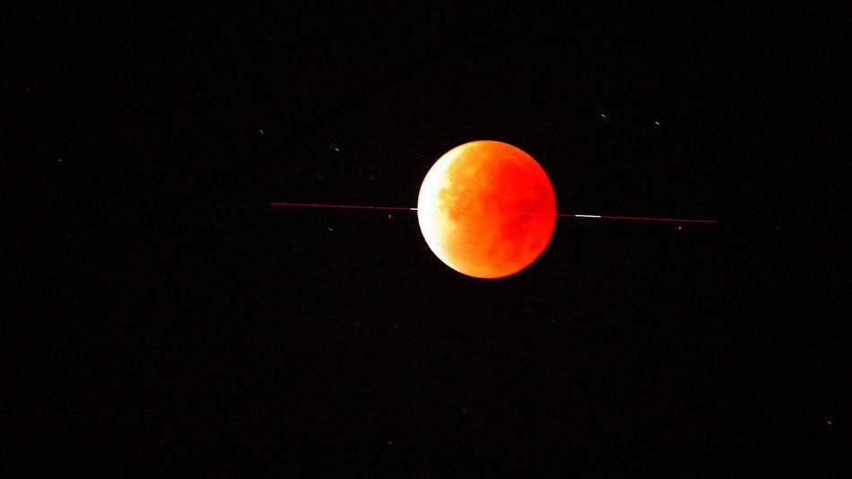 Mondfinsternis, Sterne,