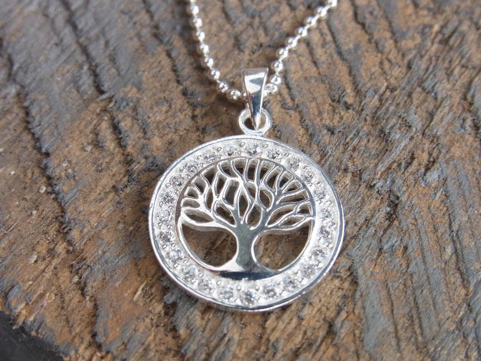 Kette mit Lebensbaum Anhänger aus Silber