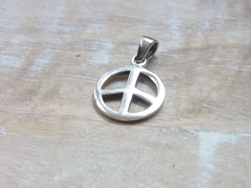 Kettenanhänger Peace Symbol aus Silber