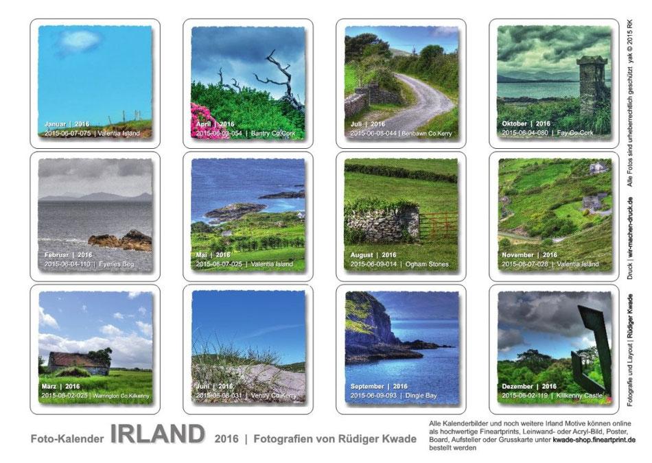irland  foto-kunst-kalender 2016  kalenderübersicht  Foto Rüdiger Kwade