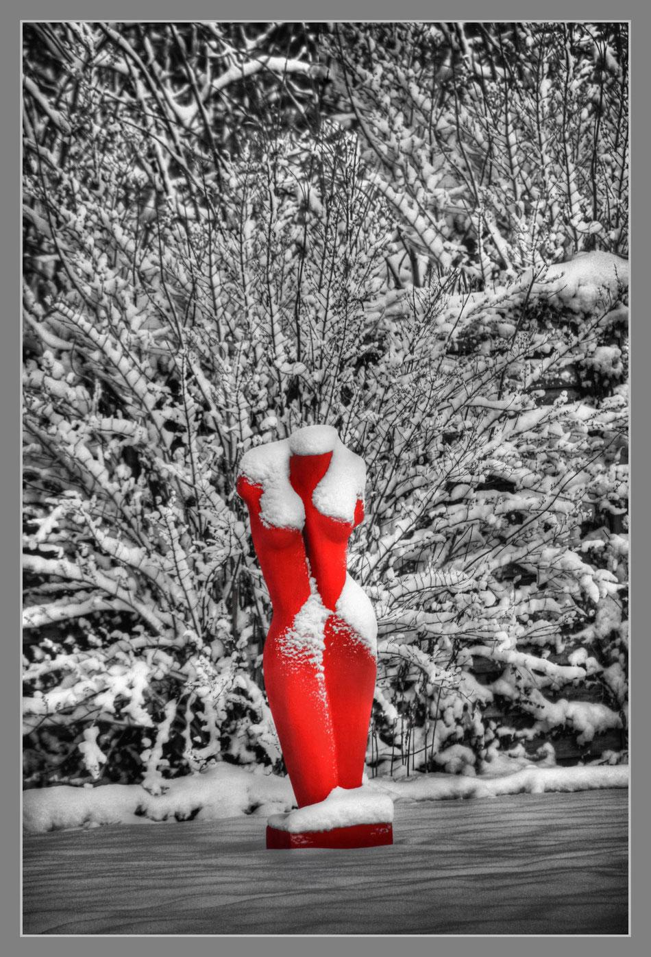 rote venus im schnee
