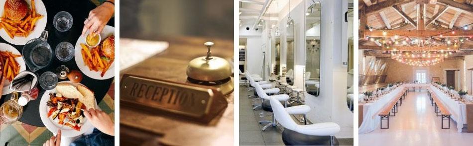 飲食店・ホテル・美容室・結婚式場のイメージ
