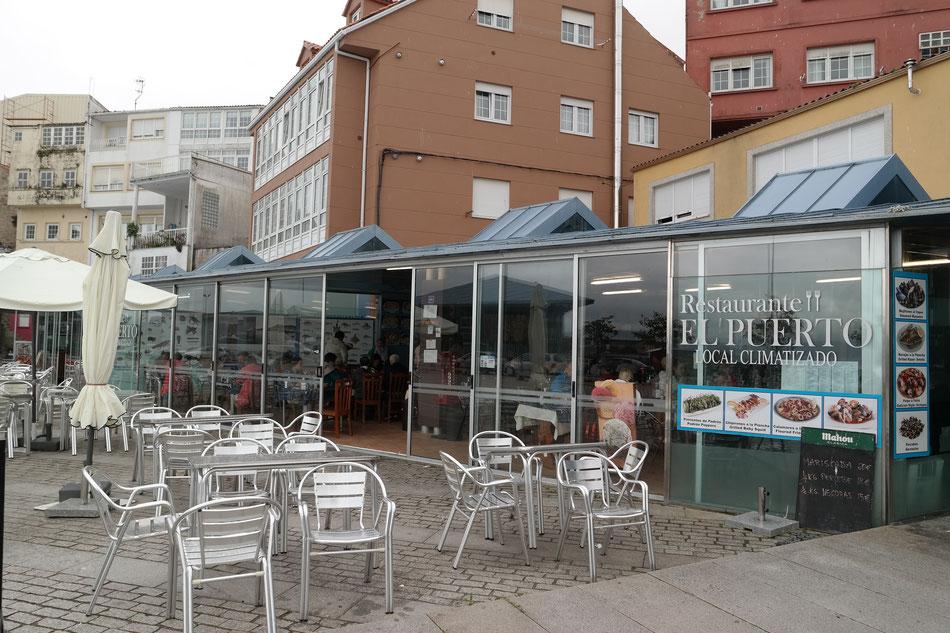 Meine Stamm-Fischrestaurant direkt im Hafen von Finisterre