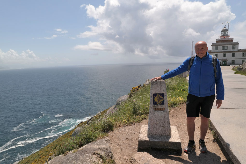 "Km ""0"" auf dem Kap Finisterre"