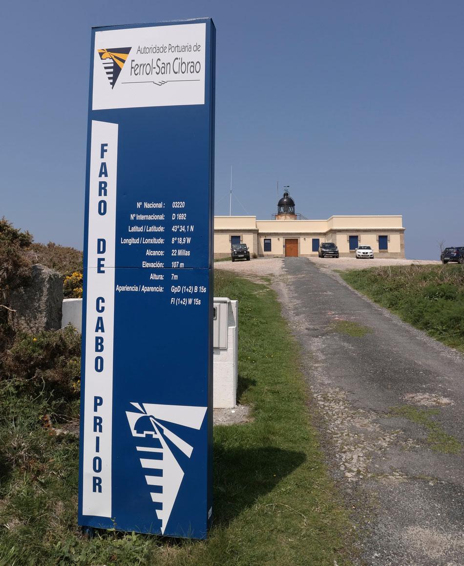 Nach dem Ankunft nach Ferrol mache erst ein Ausflug auf nah liegenger Cabo Prior