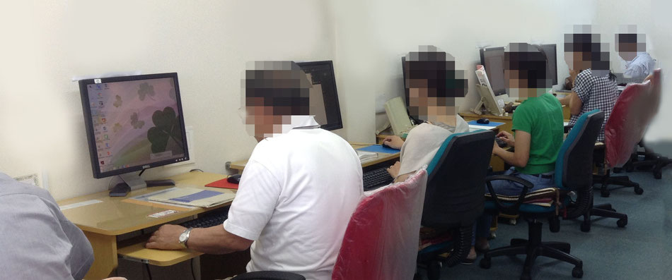 メディアックパソコンスクール生田教室の受講風景