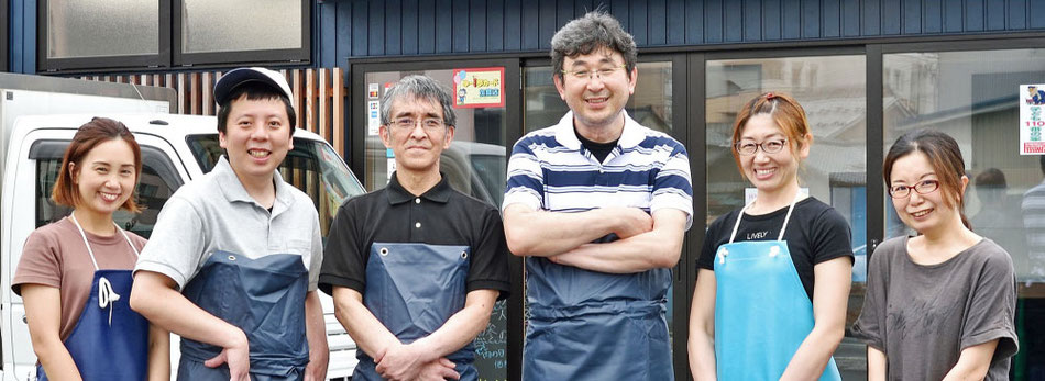 福井県の鮮魚店真洋水産で働くスタッフです