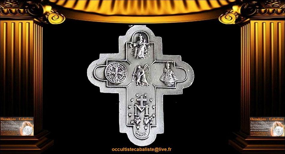 Médaille Croix des quatre Chemins Talisman magique