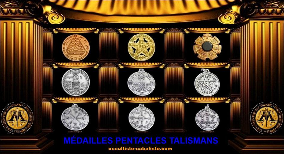 Médailles Pentacles Planétaire Talismans Magiques