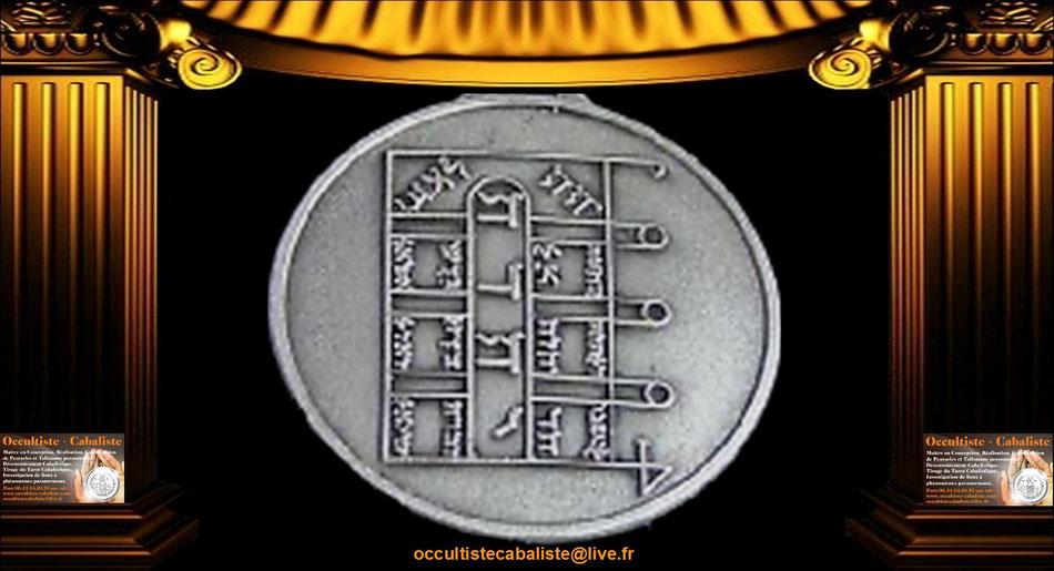 Médaille Pentacle de la Lune.