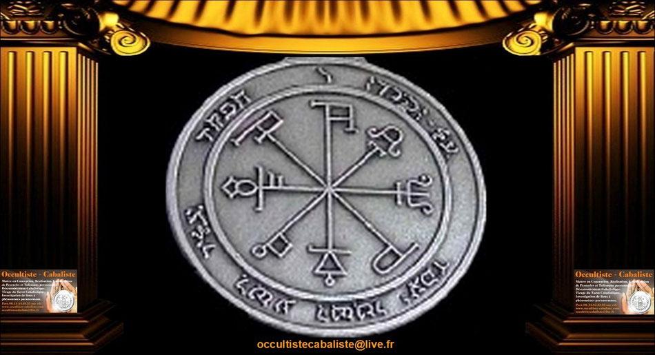 Médaille Pentacle de Saturne.