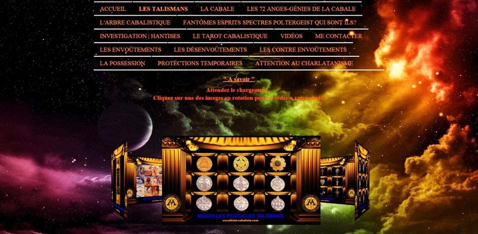 Talisman Magique Médailles Pentacle.