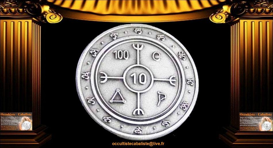 Médaille Pentacle contre l'envoutement.