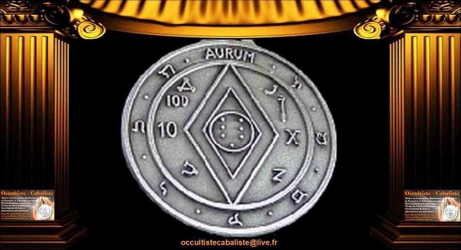 Médaille Pentacle de richesse et de justice.