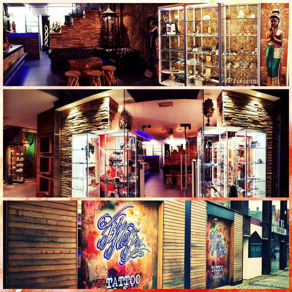 Blue Magic Pins tattoo and piercing studio NEW SHOP in shopping 2 in Genk center